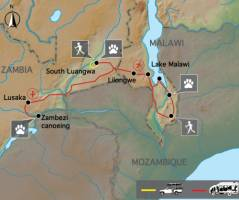 De Wildernis van Zambia & Malawi (18 dagen)