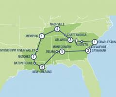 The American South (15 dagen)