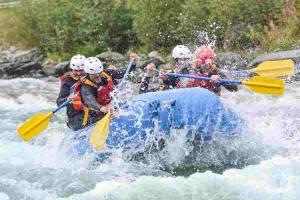 Raften op de Sjoa rivier