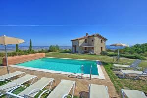Vakantiehuis in Campiglia d'Orcia met zwembad, in Toscane.