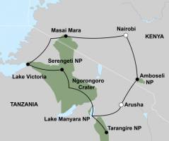 Beleef de migratie van Oost-Afrika (16 dagen) - start Nairobi