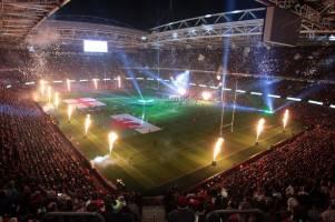 Six Nations rugby reis Italië - Engeland 8 Tribuna Monte Mario