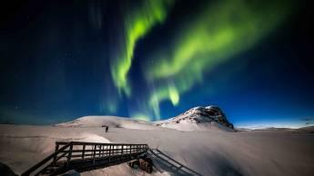 Holen Sie sich das perfekte Bild des Nordlichts in einer private