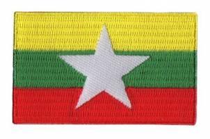 Vlag patch Myanmar